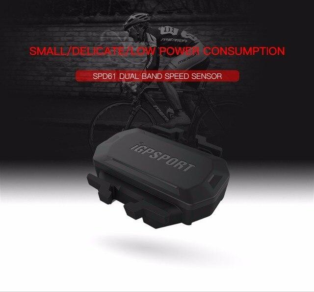 IGPSPORT bicicleta Sensor de velocidad SPD61 ANT + BT inalámbrico ciclismo bicicleta de carretera computadora cronómetro de iGS10 iGS50E iGS618