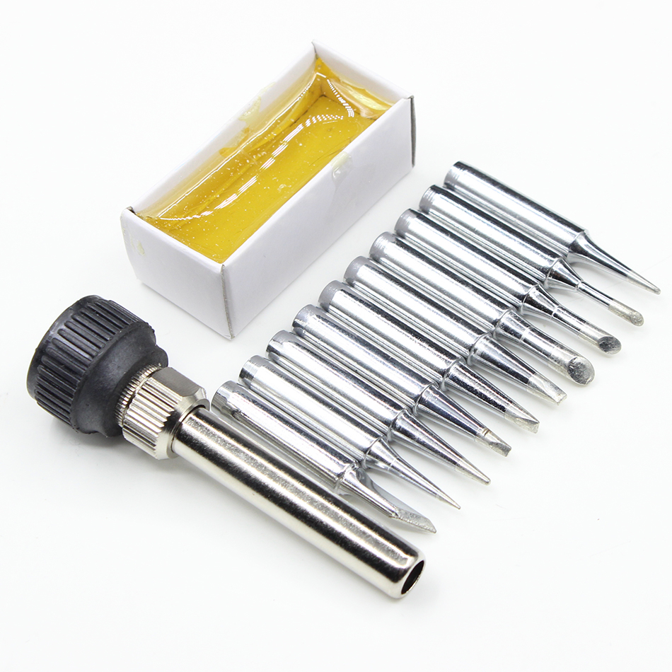 10pcs/lot Iron casing Solder Iron Tip 900M-T casing rosin For 936 SAIKE ATTEN GORDAK KADA YIHUA Soldering Station