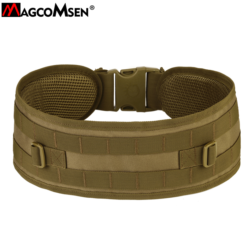 Men's Belts Magcomsen Molle System Padded Waist Belt Men Airsoft Combat Waistband Tactical Multicam Khaki Army Military Belt Ag-bjdn-067 Easy To Repair
