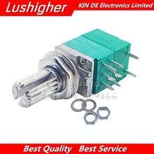 5 pces rv097ns 50 k 8pin eixo 15mm único potenciômetro ligado b50k com um interruptor amplificador de potência de áudio potenciômetro de vedação
