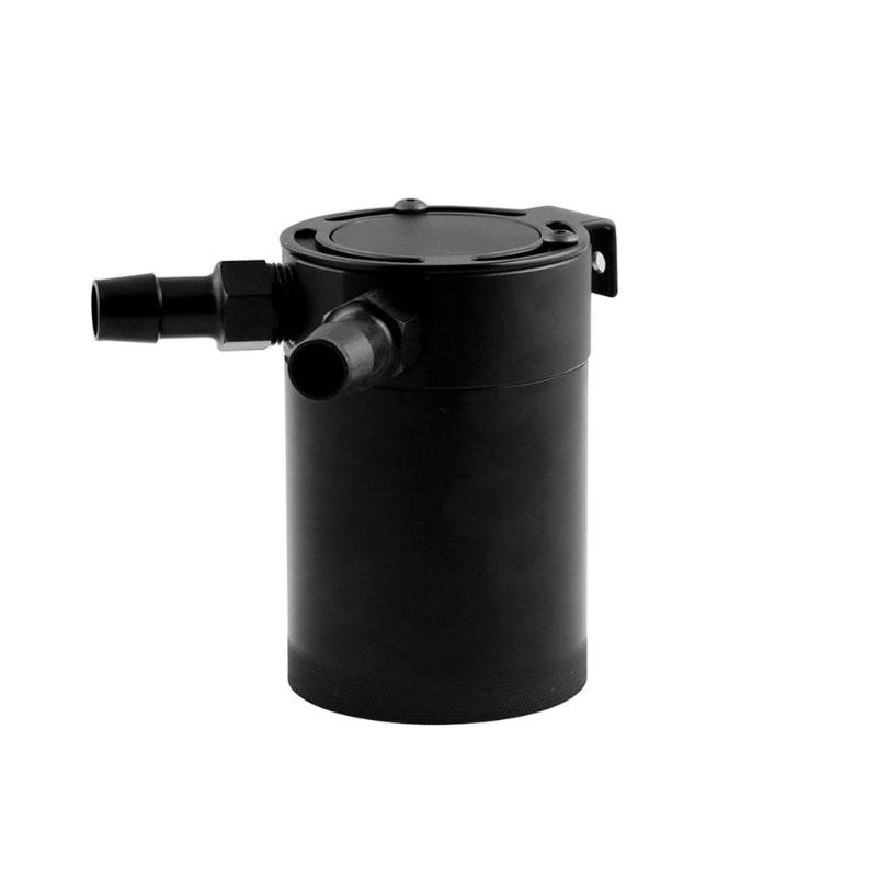 Universal Compact Baffled 2 Port Aluminum Oil Catch Can Reservoir Tank Oil Catch Can Fuel Tank Parts Two hole breathable Kettle in Fuel Tanks from Automobiles Motorcycles