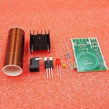 цена DC 12V Mini DIY Tesla Coil Kit Arc Power Transmission Lighting Wireless Electric онлайн в 2017 году