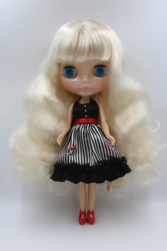 Free Shipping Transparent RBL-340T DIY Nude Blyth doll birthday gift for girl 4 colour big eyes with beautiful Hair cute toy ключ накидной торкс force f 756a