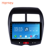 Harfey 10.1 2 DIN Android 6.0 HD Touchscreen GPS car Radio Unit for 2010 2015 Mitsubishi ASX Peugeot 4008 support DVR 1080P