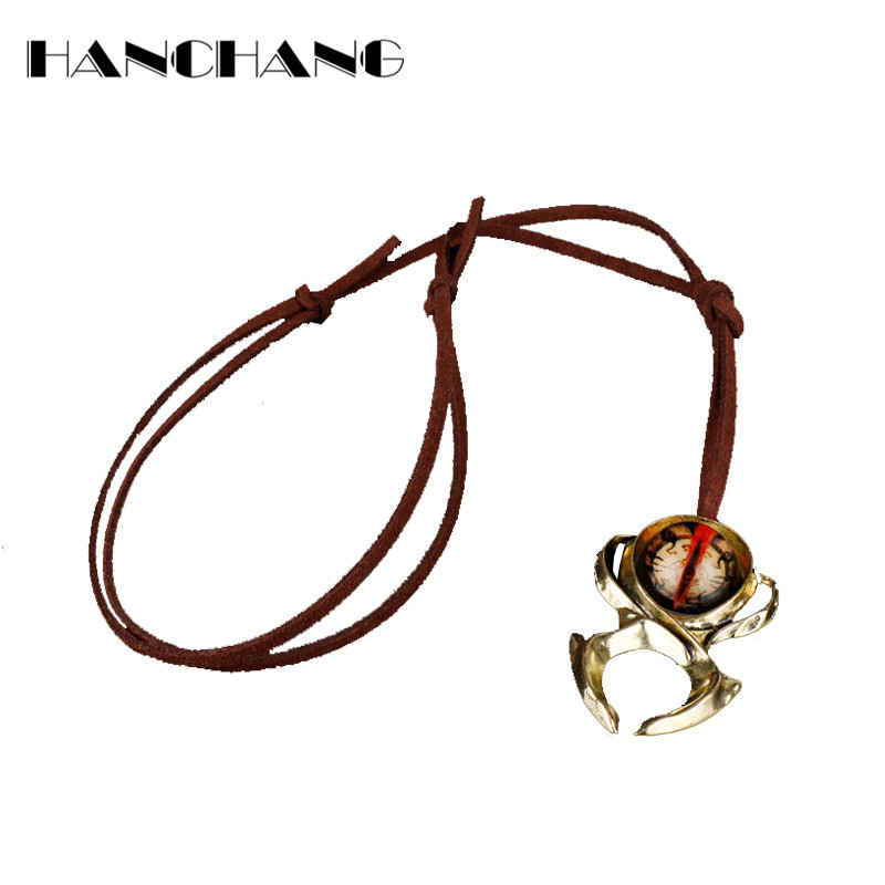 HANCHANG Diablo 3 Watchmen Guardian Horadrims Amulet Necklace Adjustable Rope Cord Necklace for Lover Unisex Gifts