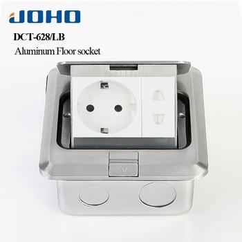 Usb Electrical Outlet | JOHO Aluminum Alloy Pop Up Electrical Sockets Promotion 16A 250V EU Socket 2 Pole Outlet RJ45 HDMI USB