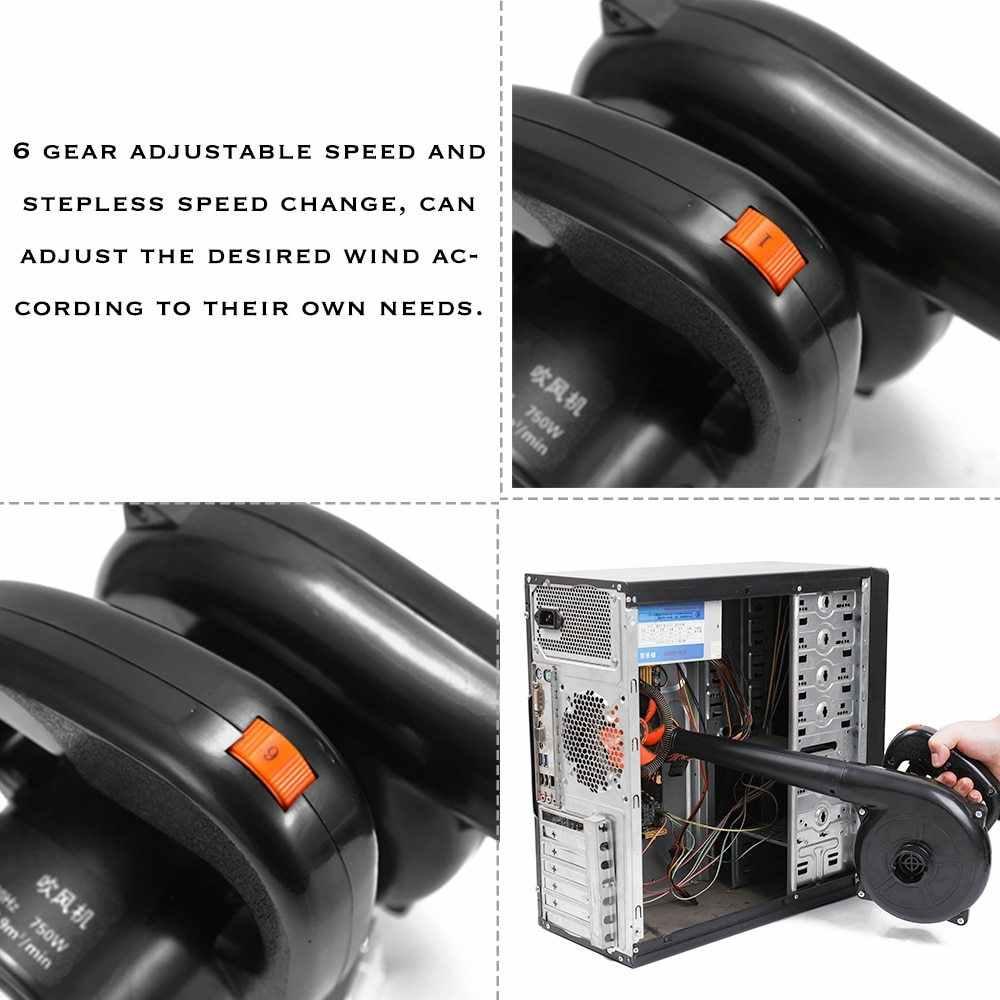 Eu Plug 750W High Power Elektrische Luchtblazer Tuin Bladblazer Computer Keyboard Dust Remover Multifunctionele Fan stofzuiger