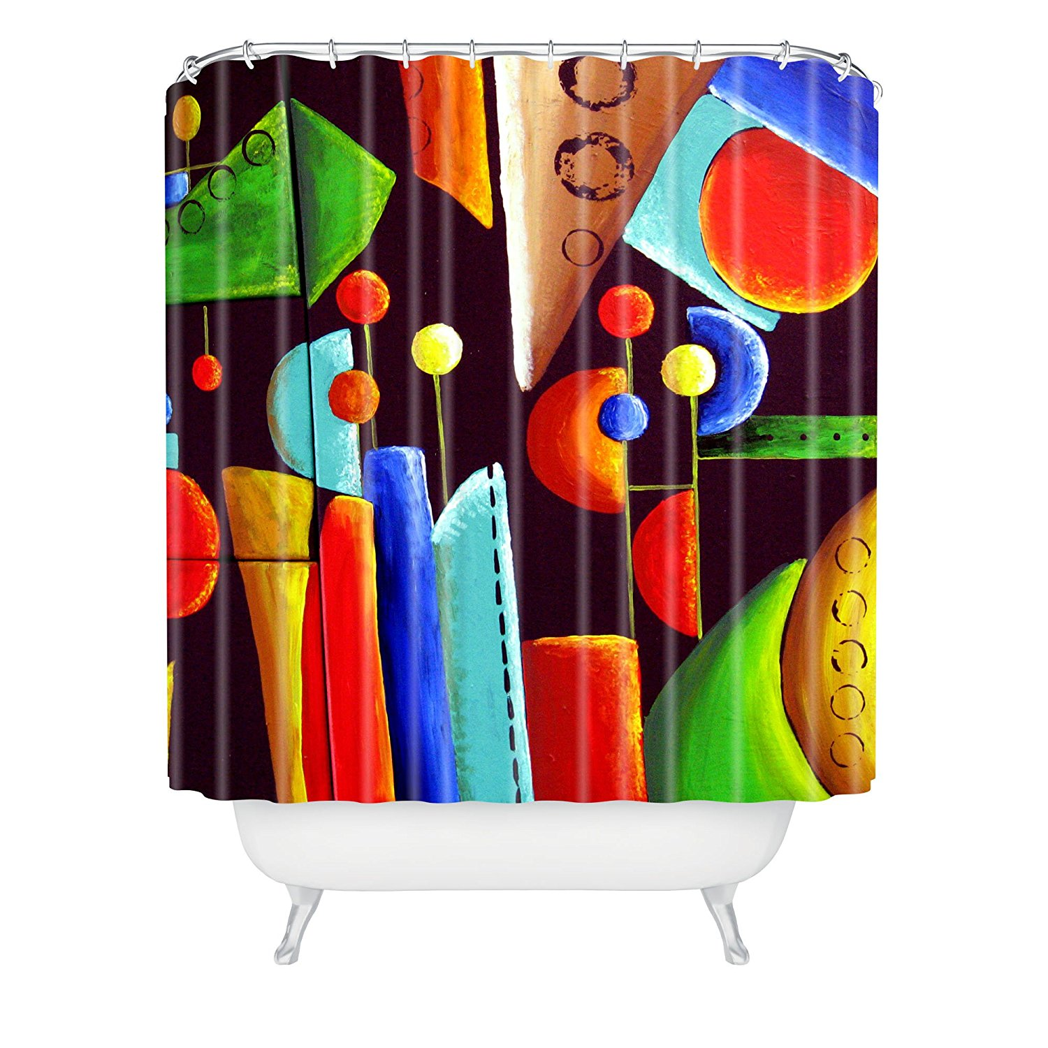 Funky shower curtains - Renie Britenbucher Funky Abstract Shower Curtain 72x72inches