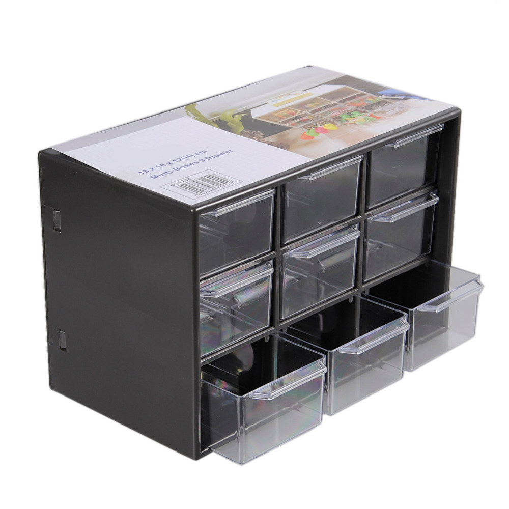 Creative Makeup Organizer Boxes Mini Debris Cabinets Lattice Portable Amall Drawer Sorting Grid Desktop Office Supplies