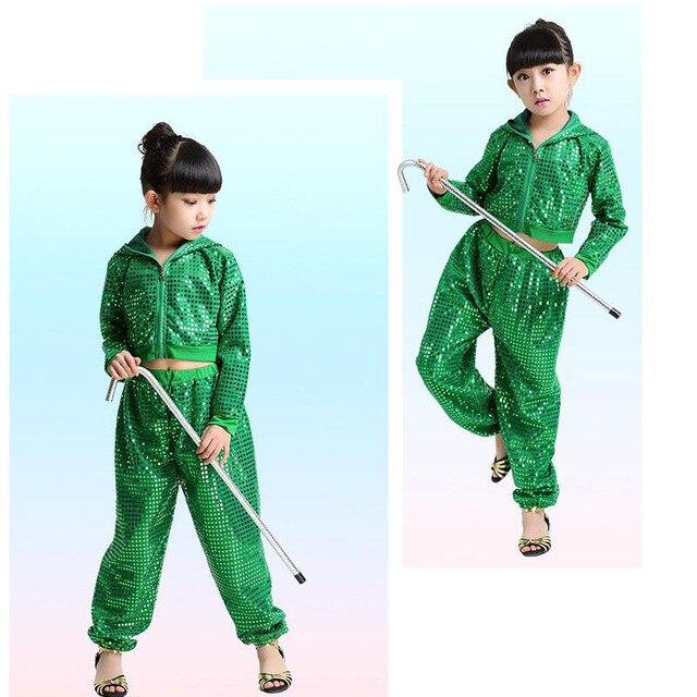 Colors Sequined Kids Adult False Sweatpants performance wear Jazz Hip Hop Dance Pants Boys Modern dancewear costumes Hoodie 3