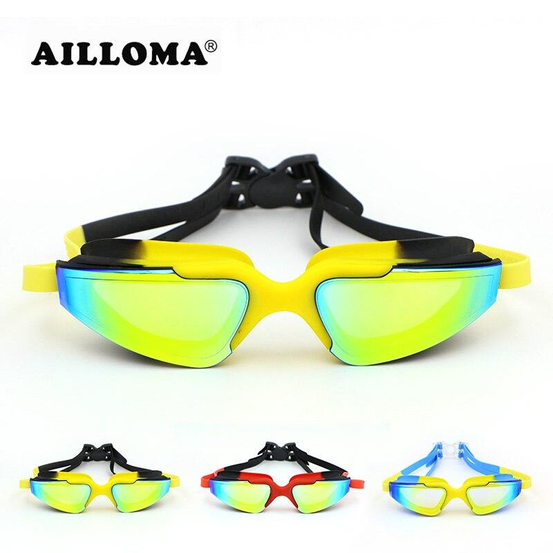 AILLOMA Professionnel Électrolytique lunettes étanches Adulte Anti-brouillard UV400 lunettes de protection Revêtement Miroir lunettes de natation