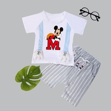 2019 new Baby Boys Clothes Sets Spring Summer Fashion T-shirt + Shorts Newborn children Girl Clothing Kids Suits kids clothes