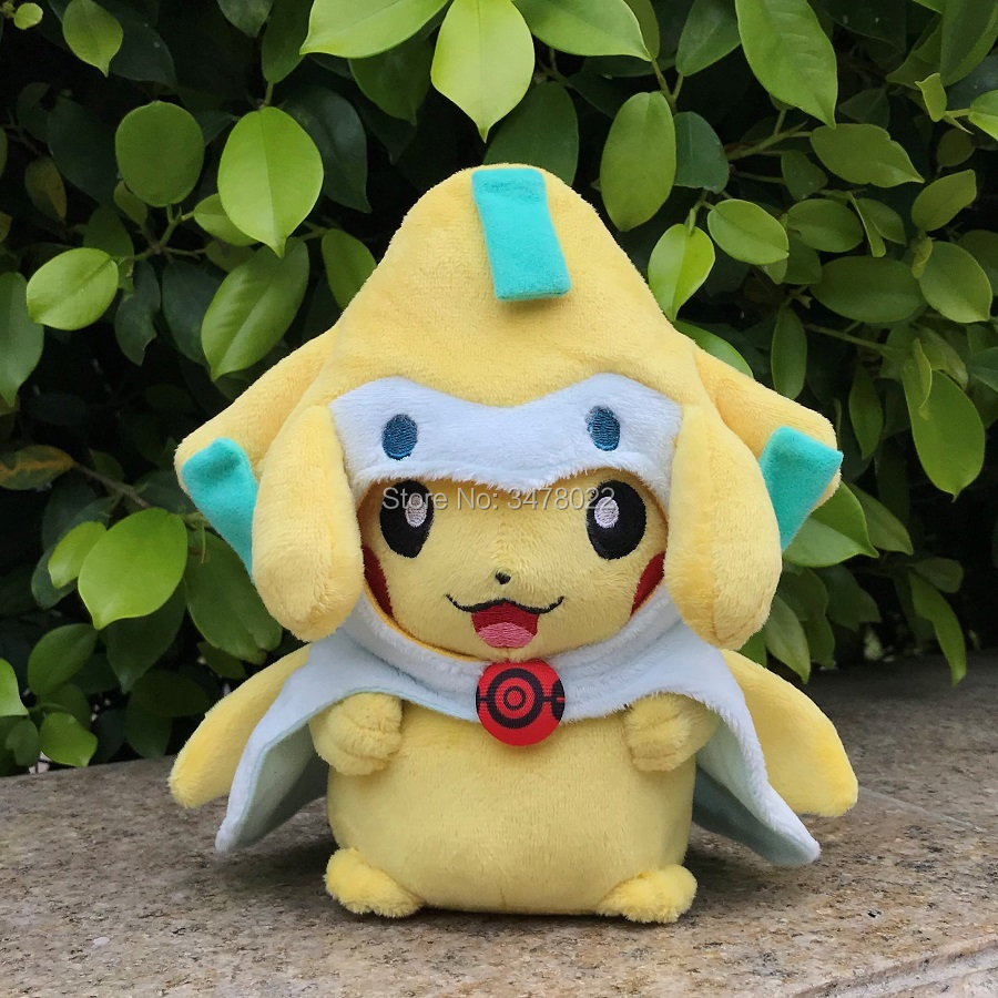 Anime Game Plush Toy Cute Pikachu With Jirachi Suit 8