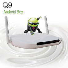 D'origine Set Top Android Iptv Boîte Q9 Construire en Wifi Quad-Core 1G RAM 8G ROM Android Tv Box media player support iptv canaux