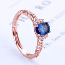 цена natural gemstone fine jewelry factory wholesale 925 sterling silver natural blue topaz ring for women wedding engagement party онлайн в 2017 году