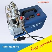 調整可能な自動停止4500psi 300バー220ボルト電気高圧水冷却エアガンスキューバダイビングエアーコンプレッサー
