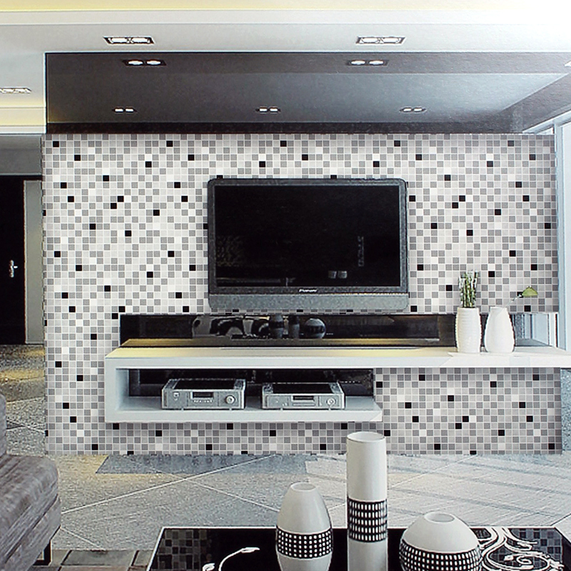 ФОТО Modern Embossed Mosaic Wallpapers 3D Modern Wall Paper for Living Room Walls,3D Wallpaper Mosaic Background Wallpaper Roll