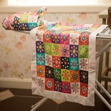 Толстая Праздничная Лоскутная льняная хлопковая ткань для лоскутного шитья DIY домашняя печатная хлопково-льняная ткань тканевое одеяло 57x145 см