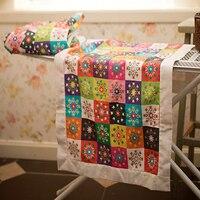 1Pcs DIY Linen Cotton Fabric Cute Items Printed Fabrics Linen Cotton Fabrics Patchwork Tissue Cloth Quilt