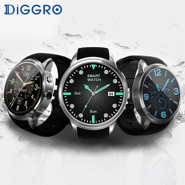 Diggro DI01 3G Smart Watch Android 5.1 MTK6580 1GB RAM 16GB ROM Bluetooth 4.0 Heart Rate Smart Wristwatch Phone For Android IOS