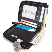 dfcc47b9b142c Baborry Diebstahl Männer Vintage Kreditkarte Halter Blockieren Rfid  Brieftasche Leder Unisex Sicherheit Informationen Aluminium Mann Geldbörse