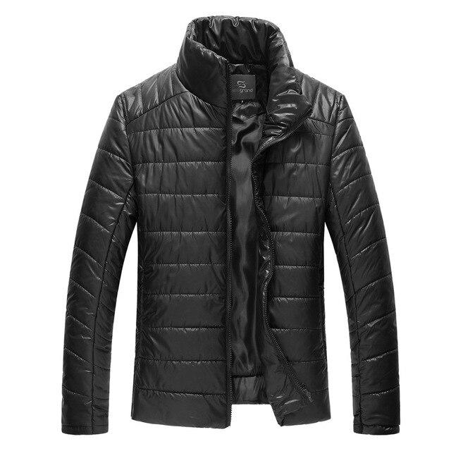 2017 New Design Men's Winter Coat Warm Cotton Coat  Jacket Windproof  Casual Warm Black Parkas Plus Size M-XXXL  MWM910