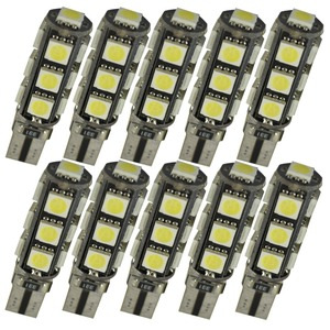 Image 1 - 10 stks W5W T10 13 SMD 5050 Led Canbus Auto auto Kentekenplaatverlichting Reserve Licht Dome Gloeilampen 12 V wit