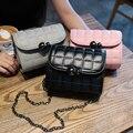 Envío libre, 2016 nuevos bolsos de las mujeres, tendencia bolso de hombro versión Coreana, moda mujer bolsa de mensajero, mini flap cadena.