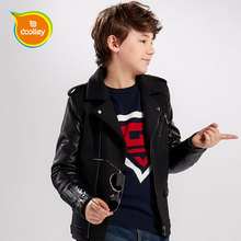 DOOLLEY Boy Fashion Leather Jackets Kids Winter Wool Coats Size 130-170 cm Christmas / New Year Clothing For Children