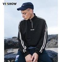 VIISHOW 2017 New Autumn Men Sweatshirt Brand Clothing Fashion Striped Hoodies Male Quality Turtleneck Casual Men