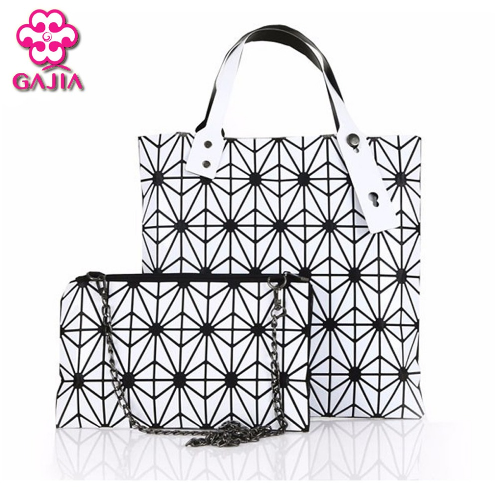 Ladies Folded Geometric Plaid Bag Women Fashion Casual Tote Top-handle Shoulder Bags Bao Pearl BaoBao Bolsas Handbags