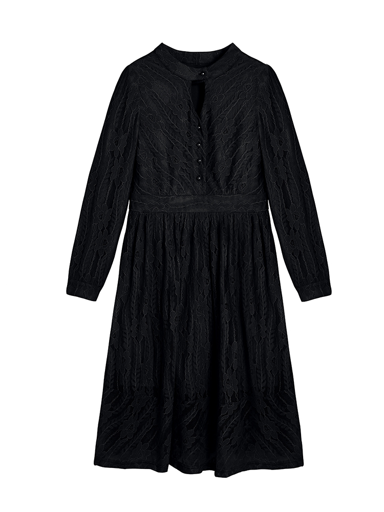 Français 4xl Hiver Plus Mince Dentelle Grande Mujer Noir Size 2019 Robes Dl499h Femmes Robe L kaki Taille Féminin Rétro De Belle qBxYxwP
