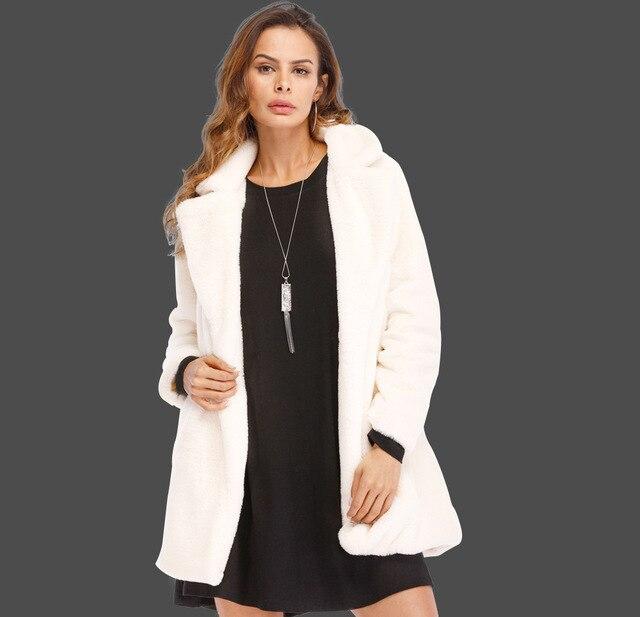 97f67f60343 ZYSK 2018 Winter Hot Fashion Women Long Design Fake Fur Jackets Outerwear Plus  Size 4XL Black Red Long Sleeve Faux Fur Coats