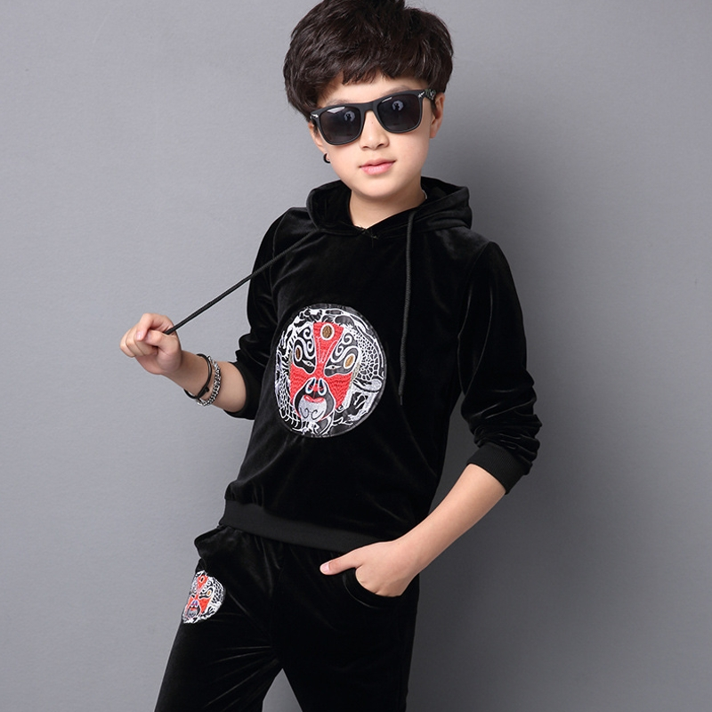 2017 New Autumn Winter Baby Boys Clothes Sets Kids Clothes Sport Suit For Boys Clothing Sets Sweatshirts + Pants 10 11 12 13 14 2015 new autumn winter warm boys girls suit children s sets baby boys hooded clothing set girl kids sets sweatshirts and pant
