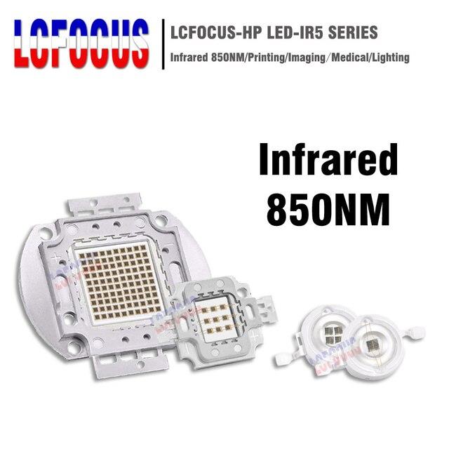 High Power LED Chip IR 850nm 3W 5W 10W 20W 30W 50W 100W Infrared 850 NM Emitter Lamp Light Bead COB 3 5 10 20 30 50 100 W Watt