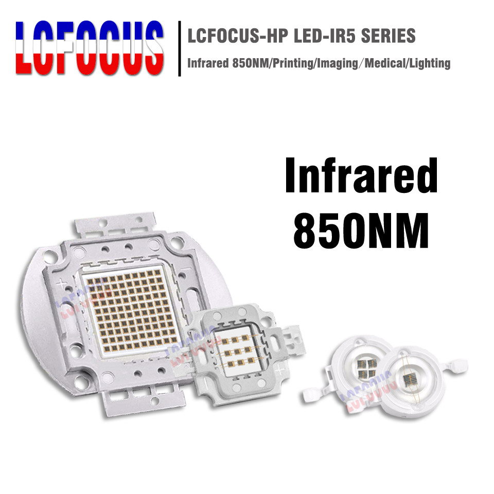 1W 3W IR LED 850NM Infrared IR High Power LED Light Bulb Lamp DIY 1 5 10 50PCS