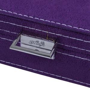Image 5 - Lockable Wooden Capacity Large Velvet Jewelry Earrings Storage Case Display Box