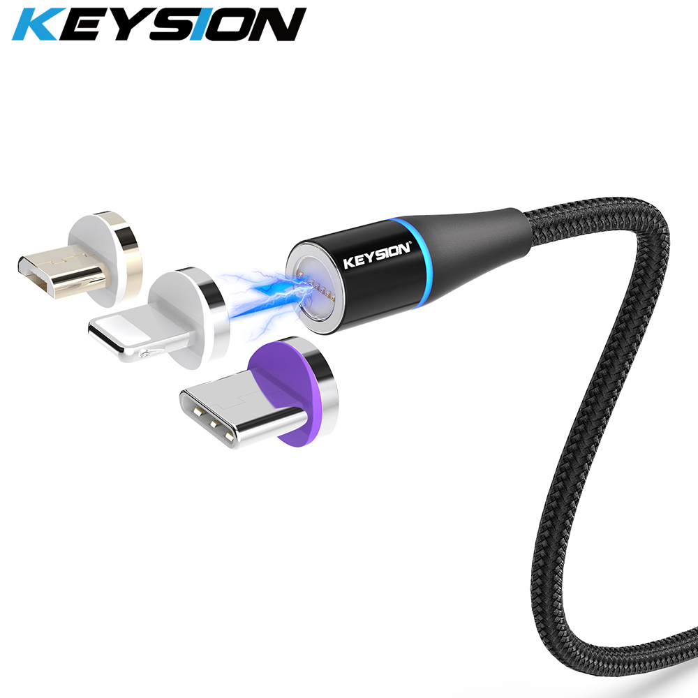 KEYSION USB-C Magnetic Cable For Samsung A70 A50 A30 A20 Xiaomi Mi 9T K20 Fast Charging