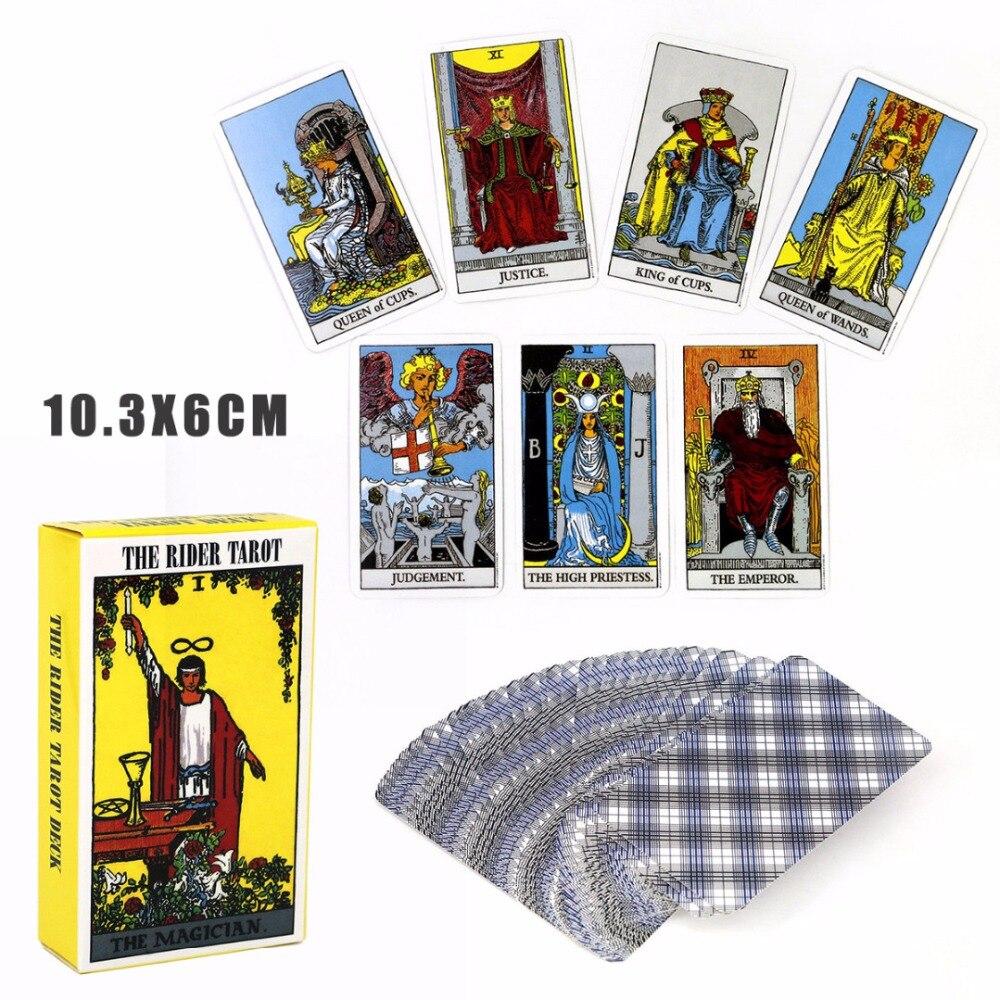 78 piezas nuevo completo Inglés Rider Waite Tarot tarjeta principiantes regalo juegos de entretenimiento divertido jugar tarjetas de papel