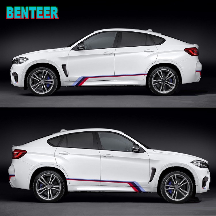 3 Colors KK NEW M performance Car side body sticker for BMW F30 F10 F20 E90 E60 E40 E36 E46 GT Z 1 2 3 4 5 6 7 X series