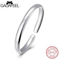 GAGAFEEL Women Wedding Jewelry 925 Sterling Silver Round Bangles Cuff Bracelets for Bangle Watch Bracelet Friendship Gift