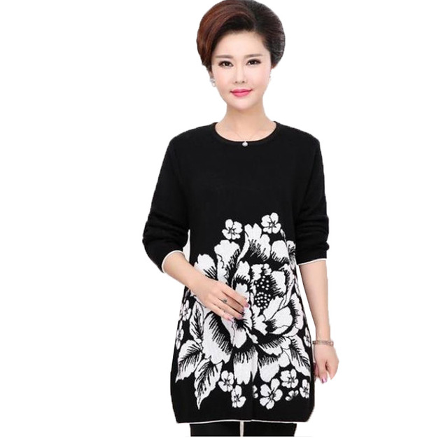 Sweater Dress 2016 New Winter Warm Women Long Sweater Knitwear Tunics Casual Vintage Pullover Robe Pull Femme Plus Size 5XXXXXL
