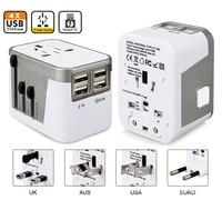 4 Usb-poort Alles in Een Universele Internationale Plug Adapter World reizen Ac Charger Adapter met AU US UK EU Plug