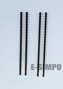 10 шт. 2,54 мм разделитель платы, 1x40P штыревой разъем, прямой, однорядный, двойной пластик, позолоченный, L11.4-15-17-19-21-24-25-30-35-40 мм