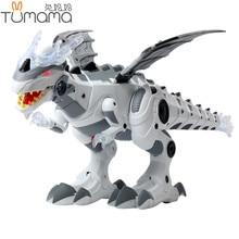 Tumama Dinosaur Electronic Pets Walking Robot Toys Roaring Swinging Flashing Lighting Electric Toys Action Figures Gift for Kids