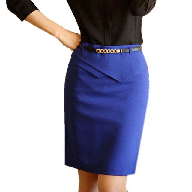 Moda 2018 mujeres Primavera Verano falda Slim formal ol MIDI falda alta  cintura lápiz falda más 84b75596de88