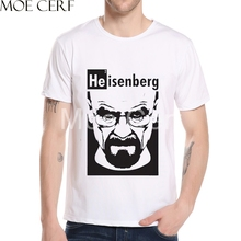 He is enberg Letter Character Design T Shirt Breaking Bad Movie Printed T Shirt  2017 Summer Fashion Top Quality Tee Shirt L5-67