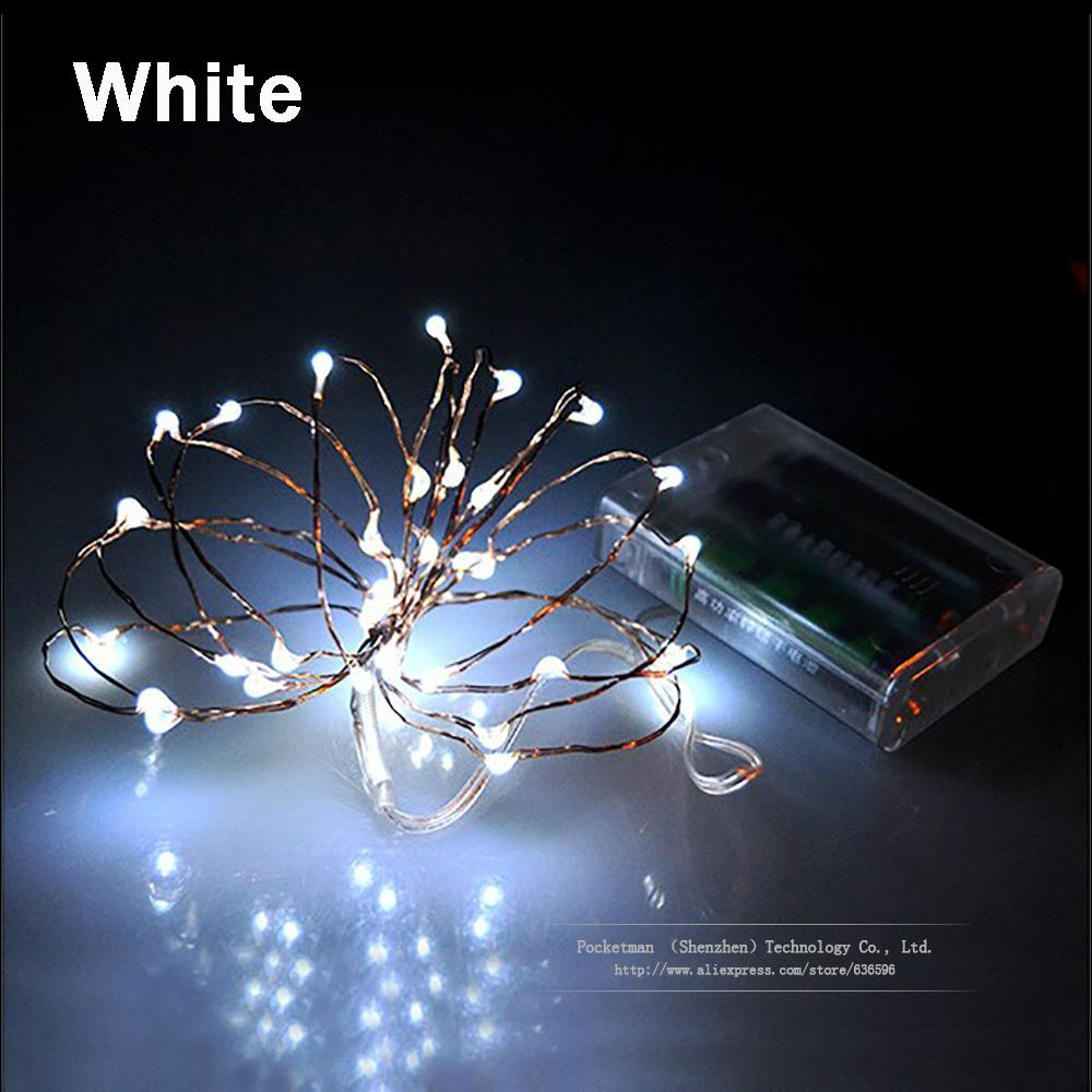 Battery Operated Led String Lights Xmas Christmas Decoration 2m 20leds Waterproof Fairy 9 Colors For Party Wedding