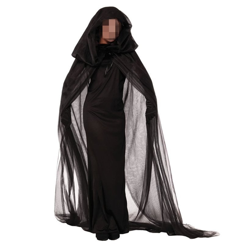 Newest Black Witch Costume Gothic Witch Halloween Costume Sorceress Costume Adult Witch Fancy Dress Witch Wicked Cosplay Costume