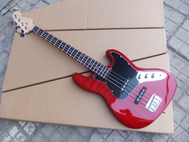 Cheap Electric Bass : wholesale custom electric bass 4 string electric bass guitar in cherry red free shipping 110122 ~ Vivirlamusica.com Haus und Dekorationen